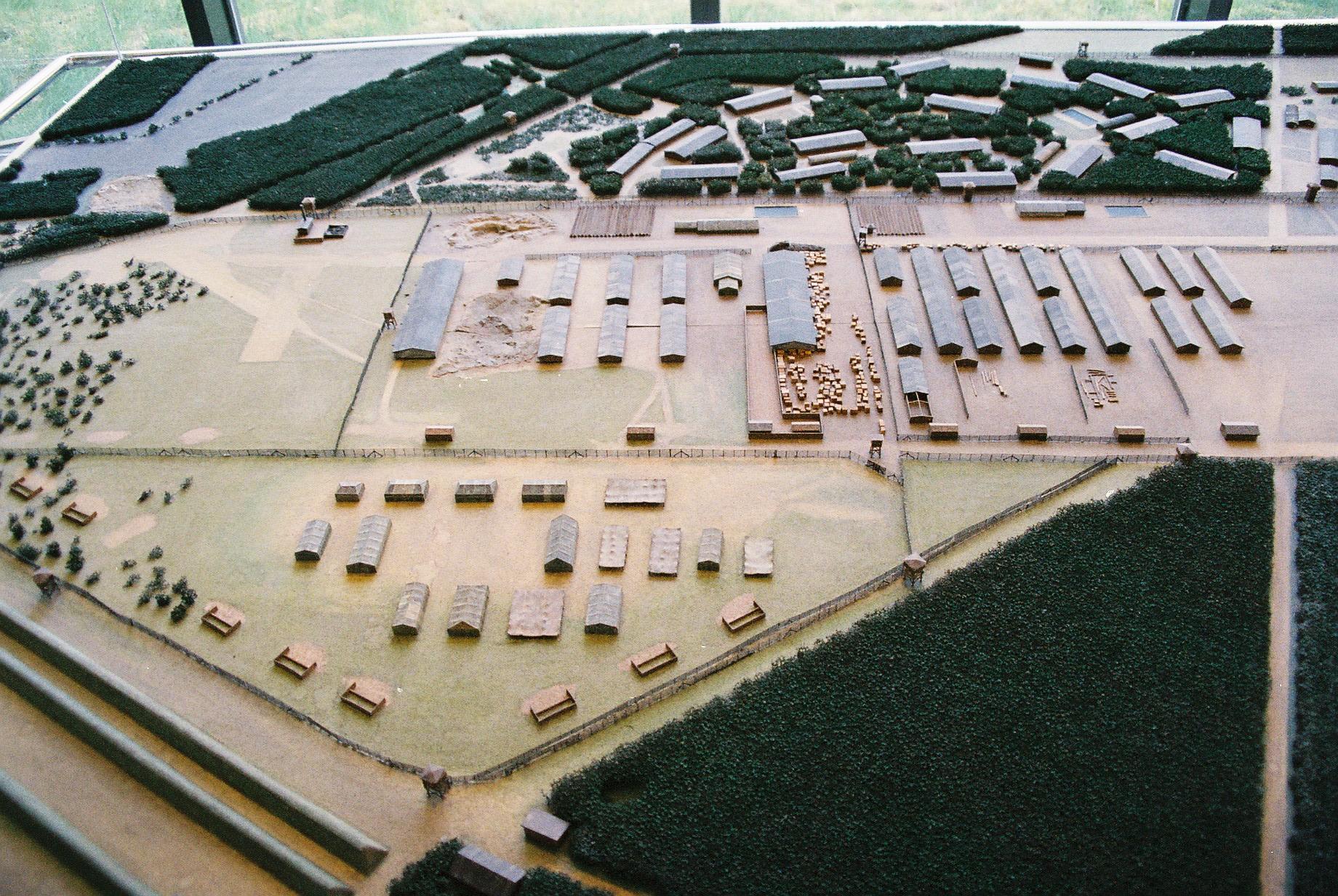 Maquette du camp de Bergen-Belsen