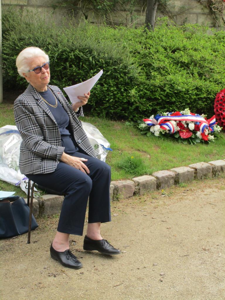 La Présidente Francine Christophe, ancienne enfant déportée