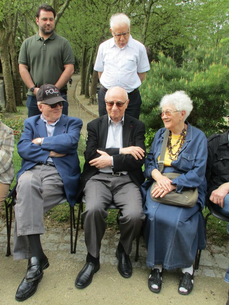 Anciens enfants déportés : Léon Placek, Victor Pérahia, Denise Schuhmann